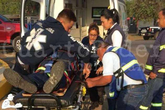 ambulancia paramedicos herido