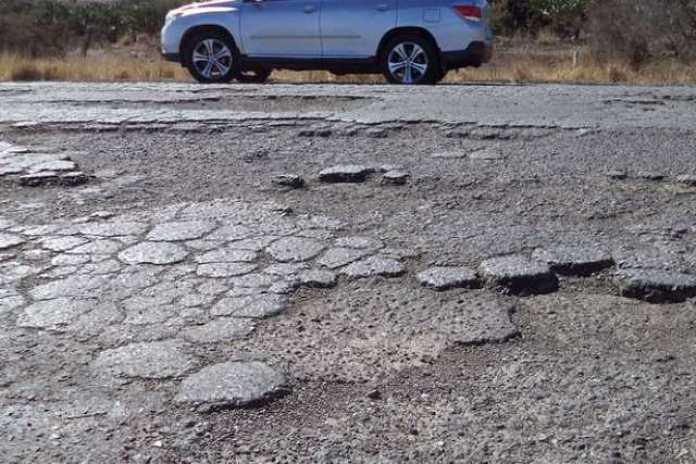 carretera dañada