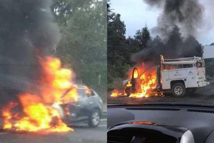 vehiculos incendiados Uruapan