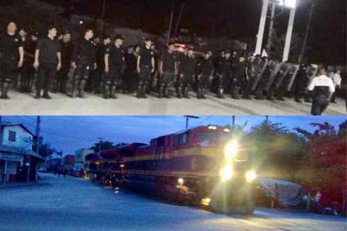policias tren