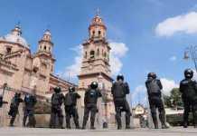 operativo granaderos centro plaza Melchor Ocampo