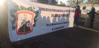 Marcha sindicato de Junta de Caminos