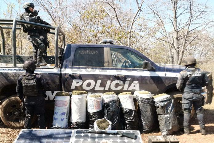 decomiso marihuana Policia Michoacan