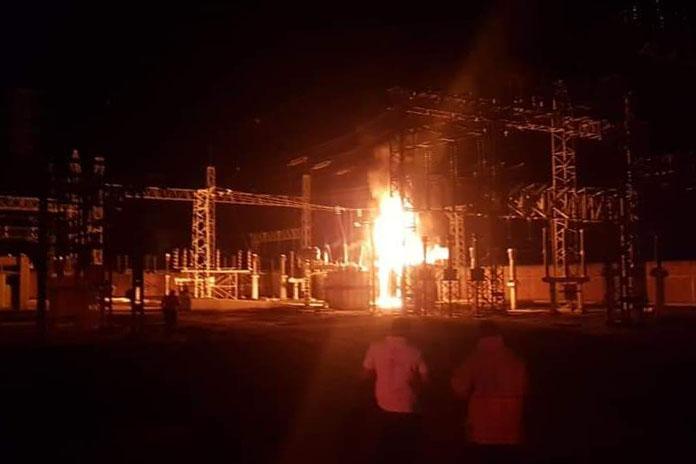incendio bomberos CFE transformador