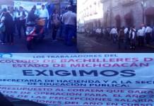 protesta COBAEM SAT Morelia