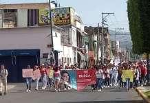 marcha estudiante desaparecida Morelia