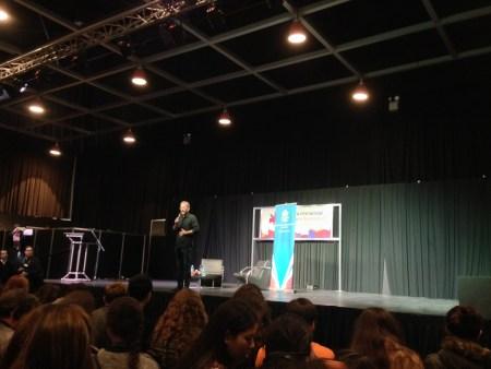 Rick Yancey en la Feria del Libro. Foto Cuatrobastardos.com