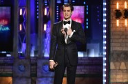 NEW YORK, NY - JUNE 10: Andrew Garfield accepts the Best Performance by an Actor in a Leading Role in a Play for Angels in America onstage during the 72nd Annual Tony Awards at Radio City Music Hall on June 10, 2018 in New York City. (Photo by Theo Wargo/Getty Images for Tony Awards Productions)