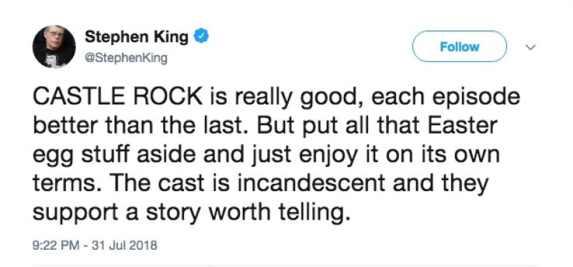 Stephen-King-Castle-Rock-Review-Tweet