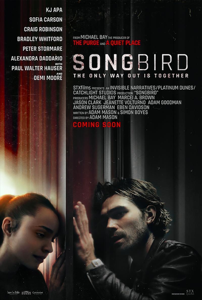 Songbird: Avance y póster del film que dramatiza un mundo devastado por el COVID-23