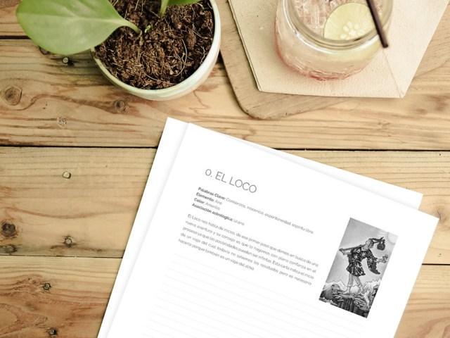 Diario de Tarot para imprimir