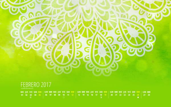 Calendario Cuatro Lunas Febrero