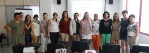 Carolina San Miguel con las alumnas de psicoemprendedores Castellón