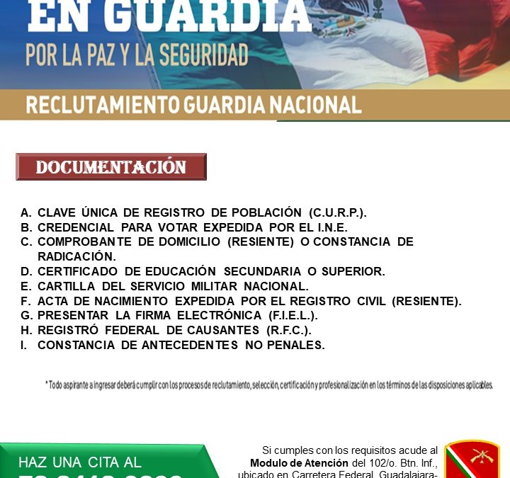 Reclutamiento Guardia Nacional