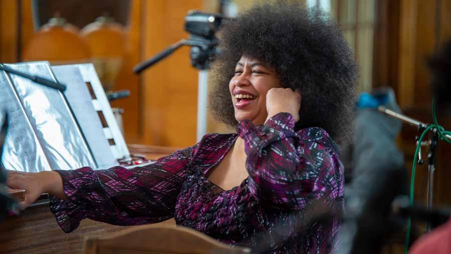 "Lazara Cachao Lopez - Piano bei ""The Cuban Orquesta"""