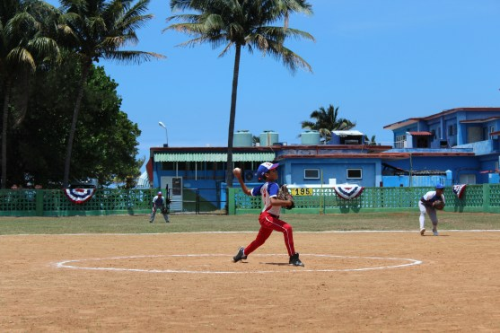 A Cerro pitcher dominating on the mound.