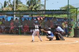 Up to bat against some ace Cuban pitching.