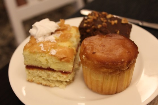 Desserts from the buffet at the farewell dinner.