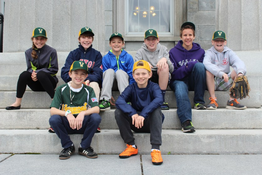 The Vermont team outside of the state house in Montpelier.