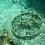 rueda bajo el mar