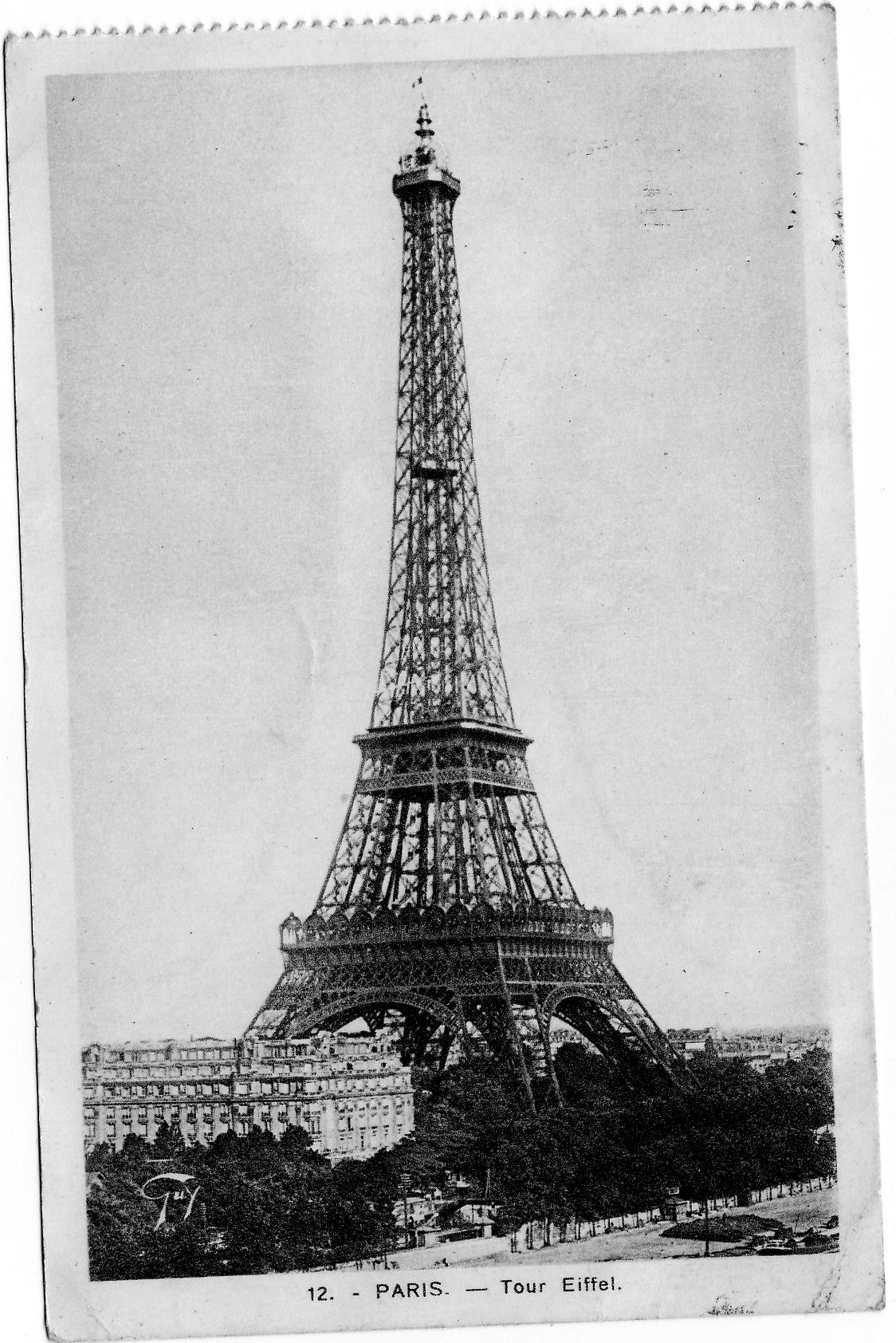 Eiffel Tower Paris France Cuba Mo Route 66 Mural