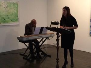 Roberto and Barbara performing excerpts.
