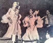 Celeste Mendoza c Gigi Ambar Cubanas en Cabaret