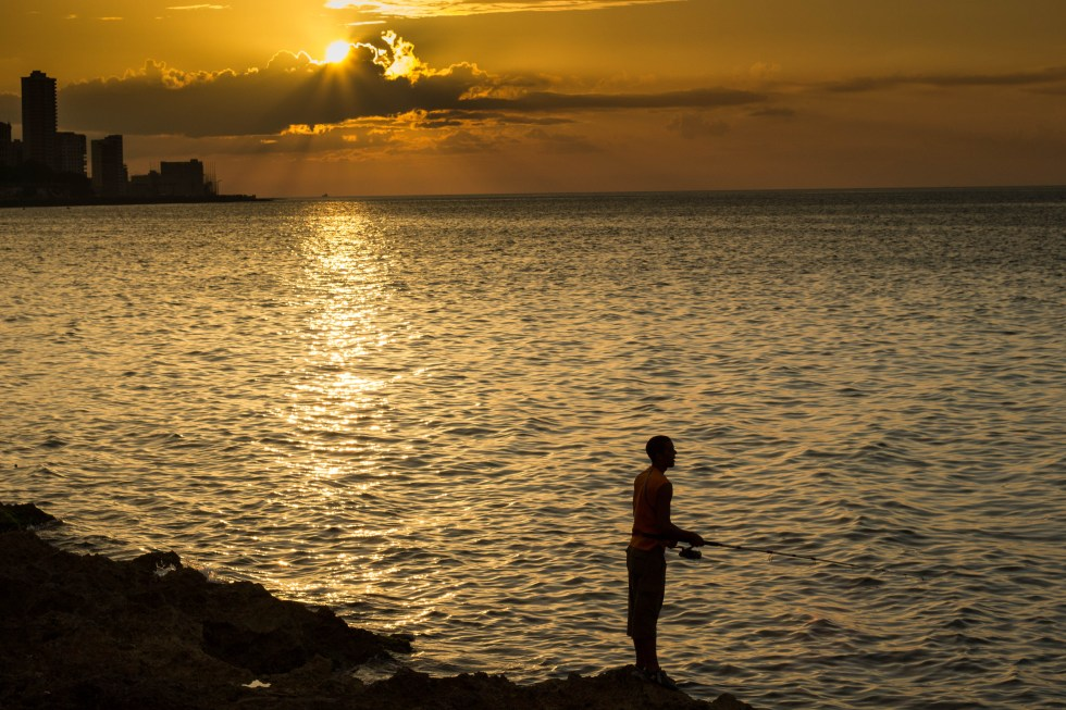 Cuban Fishing, 3-7-15, Sunset On Malecon By Christopher L. Via Creative Commons.