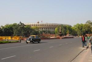 Sansad Bhawan, sede del Parlamento de la India, en Nueva Delhi