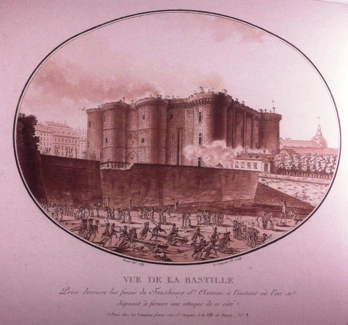La toma de la Bastilla (ilustración)