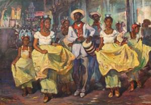 Oscar García Rivera, Comparsa, c. 1940 Cortesía de Juan A. Martínez y el Vero Beach Museum of Art