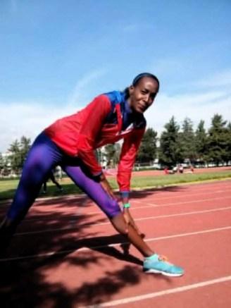 Mabel Gay entrenando en México antes de sufrir la lesión