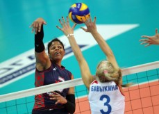 Nancy Carrillo en el Osmk de la Súper Liga Rusa