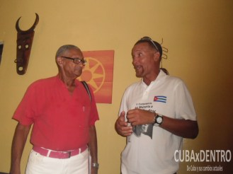 Lázaro Betancourt y Luis Alberto Pinillo durante la conferencia de prensa de la V de Edición del José Godoy In Memoriam