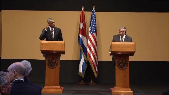Conferencia de prensa ofrecida por Barack Obama y Raúl Castro