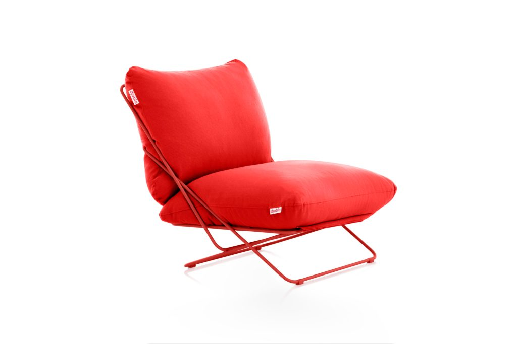 Valentina club arm chair-45-red high rise, from Diabla