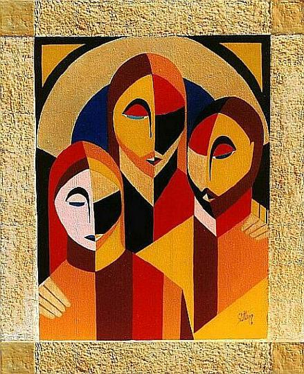 Gesù con il Padre e la Madre