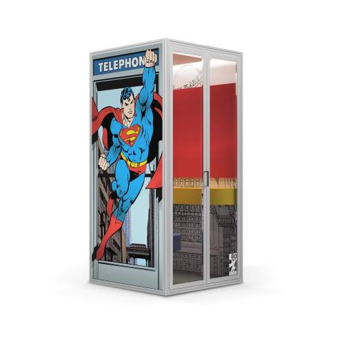 Superman Phone Booth by Cubicall