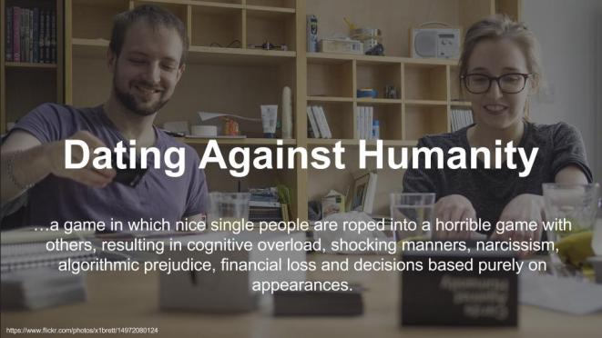 Video: Dating Against Humanity – #tedxmcr