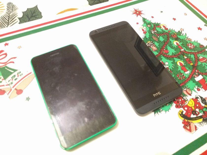 Nokia Lumia 635 and HTC Desire 635