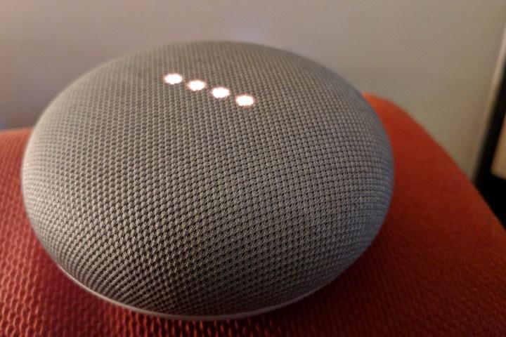 Google Home Mini at home