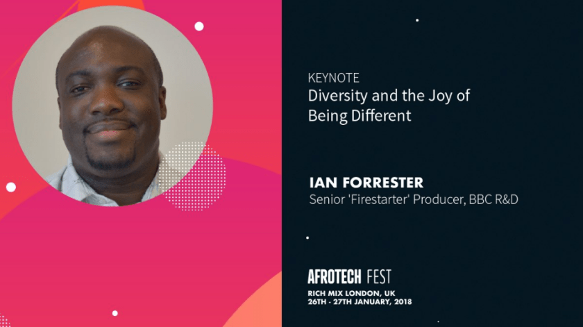 Ian Forrester at Afrotech 2018