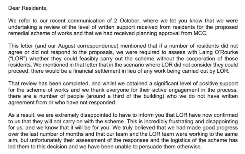 Islington Wharf latest letter