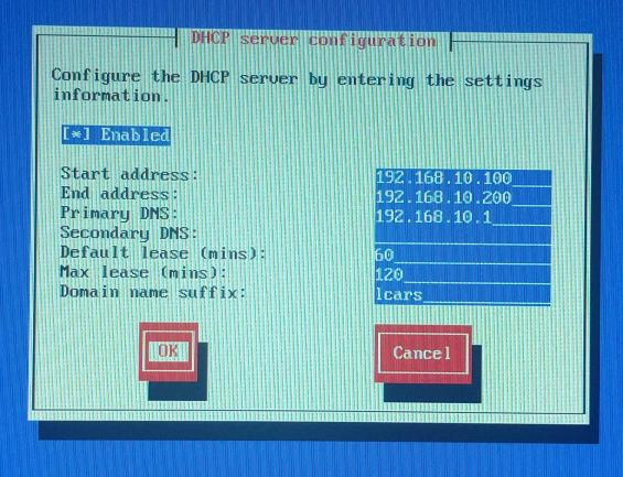 ipfire-23-dhcp server configuration