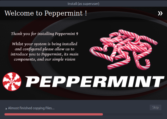 peppermintos-09-installation progress