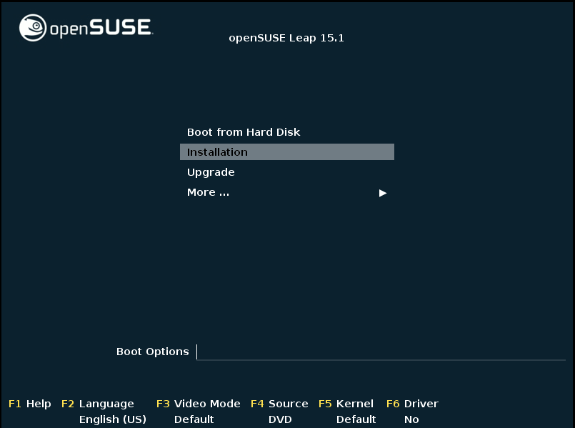 openSUSE Leap 15.1 Installation 1