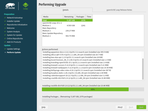 openSUSE Leap 15.1 Upgrade 12