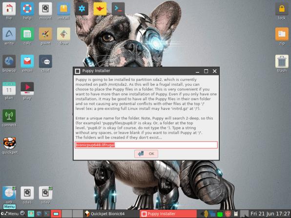 PuppyLinux VM 25