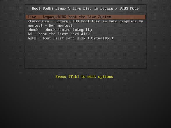 Bodhi Linux 1 Live Installer