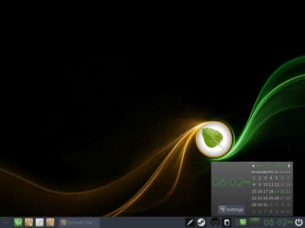 Bodhi Linux 21 Calendar Widget